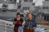 مقتل 7 من المارينز  بعد تصادم مدمرة أمريكية بسفينة شحن