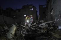 طائرة إسرائيلية تقصف سيارة فارغة شرق غزة (صور)