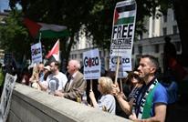 محتجون يتظاهرون ضد زيارة نتنياهو إلى لندن (شاهد)