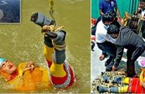 ساحر هندي ينفذ خدعته الأخيرة ويختفي في نهر (شاهد)