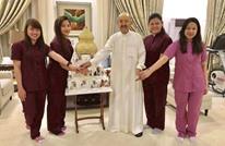 هكذا علق نشطاء على صور أمير الكويت مع عاملات بقصره (شاهد)