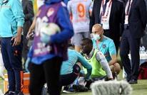 واقعة غريبة.. إصابة لاعب بتركيا بزجاجة ماء رغم غياب الجمهور