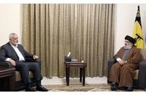"""هنية يبحث تداعيات """"سيف القدس"""" مع نصر الله خلال زيارته لبنان"""