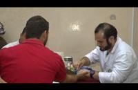 أردنيون يتبرعون بالدم لجرحى غزة (صور+فيديو)