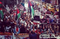 شيكاغو تشهد أكبر تظاهرة بتاريخ أمريكا دعما لغزة