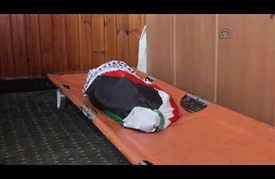 تشييع جثمان الرضيع الفلسطيني دوابشة قرب نابلس
