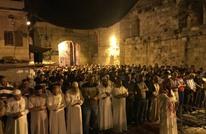 فلسطينيون يحيون التراويح بالقدس مع تدابير ضد كورونا