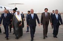 وزير خارجية تركيا يلتقي نظيره الفلسطيني بالسعودية (صور)