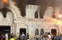 حريق ضخم يشب في المسجد الحسيني.. الأقدم في الأردن (شاهد)