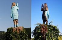 إحراق تمثال لميلانيا ترامب بمسقط رأسها بسلوفينيا (شاهد)