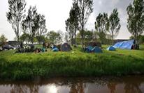 لاجئون مصريون وسوريون يحتجون بهولندا على ظروف اللجوء (صور)