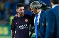 """مدرب برشلونة يرفض التعليق على أنباء """"رحيل ميسي"""""""