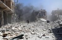 براميل الأسد المتفجرة تقتل 11 شخصا بالرستن