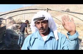 مستوطنون يحرقون خيمة سكنية ويخطون شعارات معادية للعرب قرب رام الله