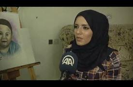 """فلسطينية تُجّمل حروق الرضيع """"دوابشة"""" في لوحة بمساحيق """"المكياج"""""""
