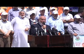 وقفة تضامنية مع المعتقلين المضربين عن الطعام داخل سجون الاحتلال