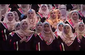 """تخريج أول دفعة جامعية من الطلبة """"الصم"""" في قطاع غزة"""