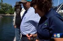 زوجان أمريكيان يصطادان سمكة غريبة الشكل (شاهد)