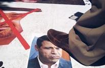 محتجون فلسطينيون يحرقون صور دحلان وابن زايد (شاهد)