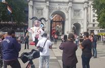 وقفة احتجاجية بلندن ضد تطبيع الإمارات مع إسرائيل (شاهد)