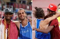 "WP: قطري وإيطالي صديقان متنافسان ""يتشاركان الذهب"""