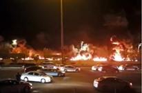 السيطرة على حريق ضخم بناقلة مواد بترولية قرب مكة