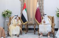 ابن راشد يلتقي أمير قطر على هامش مؤتمر بغداد