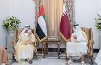 أول تعليق من حاكم دبي بعد لقائه أمير قطر في بغداد (صور)