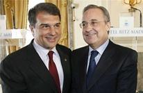 رئيس ريال مدريد يزور برشلونة للقاء لابورتا