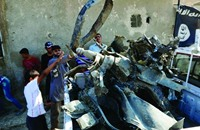داعش يظهر مقاتلة سورية أسقطها فوق الرقة