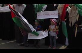 وقفة نسائية في غزة تستنكر اقتحام الشرطة الإسرائيلية للمسجد الأقصى