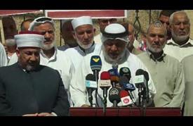 """وقفة لعلماء دين في غزة استنكارا لـ""""الاعتداءات"""" الإسرائيلية على """"الأقصى"""""""