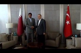 أردوغان و آل ثاني يبحثان الانتهاكات الإسرائيلية للمسجد الأقصى