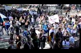 مسيرة لدعم اللاجئين في العاصمة البلجيكية