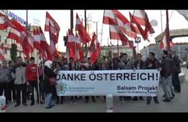 مسيرة بالورود للاجئين السوريين في فيينا