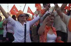 """أنصار """"عون"""" يتظاهرون في بيروت للمطالبة بانتخابه رئيسا للبلاد"""