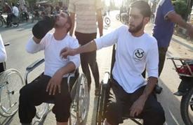 مصابون في الحرب السورية يشاركون في سباق بارالمبي في دوما