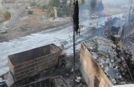 غارات جوية تستهدف قافلة إنسانية في ريف حلب الغربي