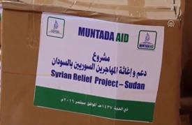 منظمة سودانية تقدم مساعدات لعشرات اللاجئين السوريين بالخرطوم