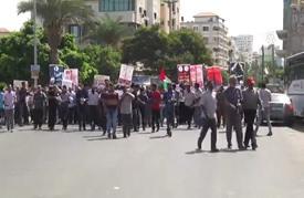 """مسيرة في غزة دعما لـ """"انتفاضة القدس"""""""