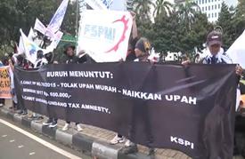 آلاف الإندونيسيين يتظاهرون ضد برنامج يعفي الأغنياء من الضرائب