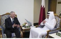 """أمير قطر وماتيس يبحثان في قاعدة """"العديد"""" الأزمة الخليجية"""