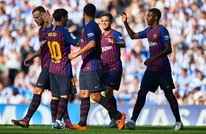 برشلونة يعود من سوسيداد بفوز صعب (شاهد)