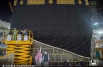 إسدال ثوب الكعبة بمشاركة 46 مختصا (صور)