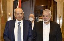 هنية يلتقي رئيس مجلس النواب اللبناني ويتحدث عن المخيمات