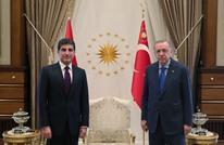 اجتماع مغلق بين أردوغان ورئيس إقليم كردستان العراق