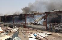هجوم صاروخي حوثي على ميناء المخا يسفر عن حرق مواد إغاثية (شاهد)