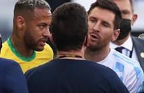 ميسي غاضب بعد توقيف مباراة الأرجنتين والبرازيل.. ماذا قال؟